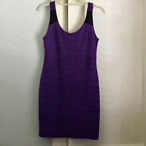 Mini dress - purple and black dress.